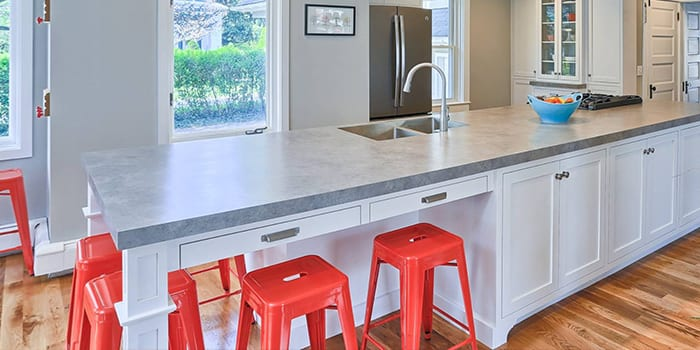 closeup of kitchen counter